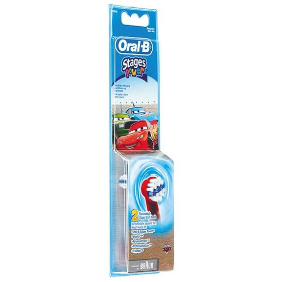 Bild på Oral-B Power Stages för barn med Cars-motiv EB-10 (2-pack)